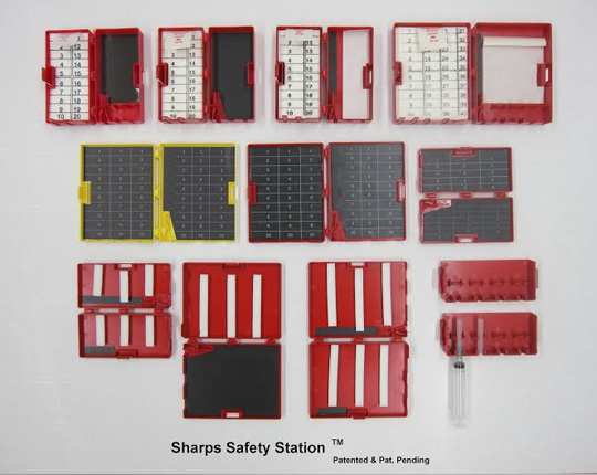 Sharp Safety Station and Syringe Rack